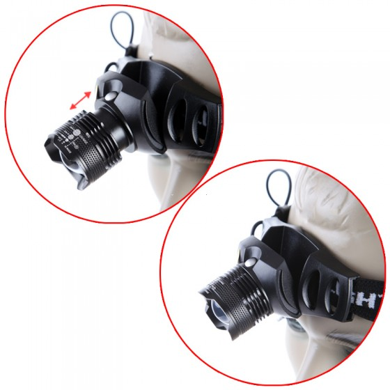 Mini Adjustable Focus Head lamp Zoom in/out 1000LM Q5 LED strip Headlight Headlamp Outdoor Camping Sports Head Light with 4 Mode