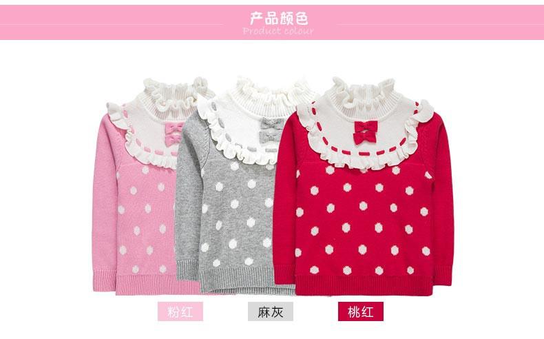Скидки на Новорожденных девочек трикотажные свитера 100% хлопок девочек одежда листьев лотоса воротник с бантом дизайн одежды для ребенка bottming рубашки