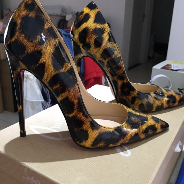 2016 new Leopard Print Red shoes High Heels Bottom Pumps scarpin salto alto Patent zapatos mujer tacon sandals  Womens Shoes<br><br>Aliexpress