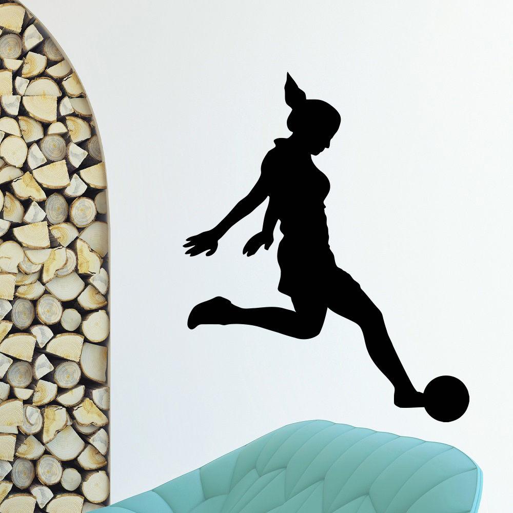 WALL DECAL VINYL STICKER GYM SPORT GIRL FOOTBALL PLAYER(China (Mainland))