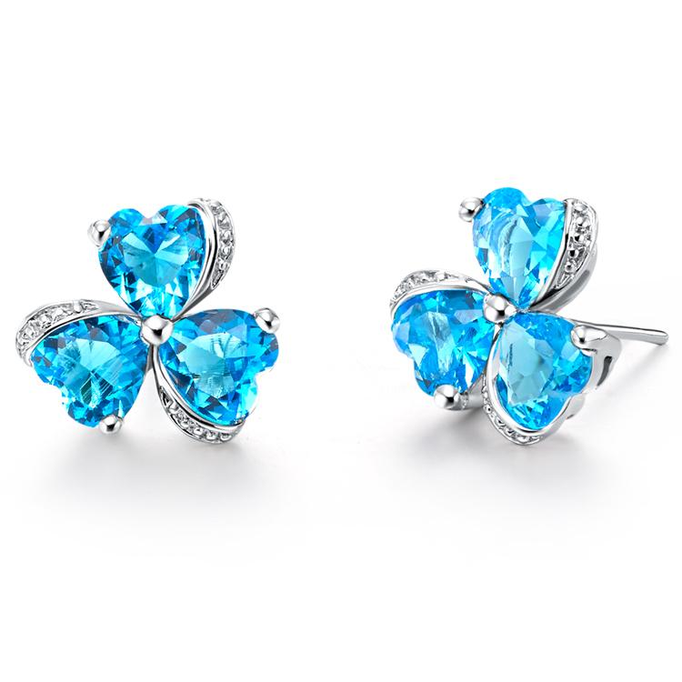 cheap earrings brincos bijuterias clover stud vintage