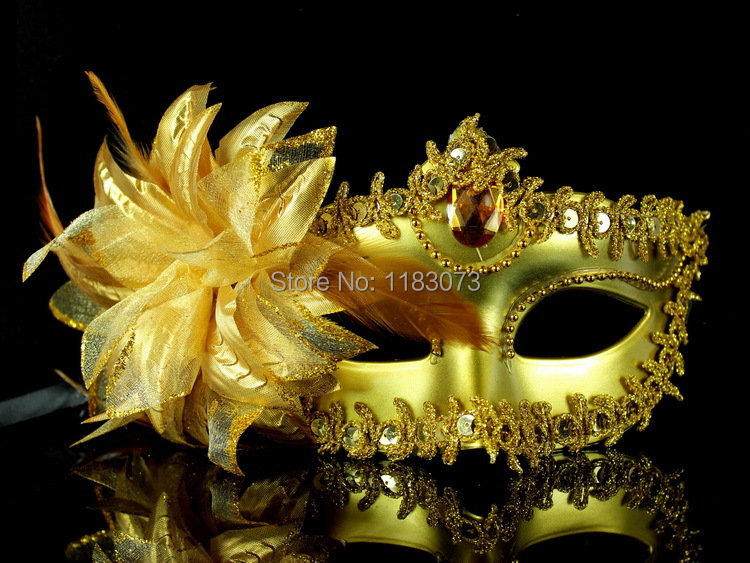 Italy Venice Princess Mask Sexy Masks for Noble Elegant Women Half Face Masquerade with Flowers100pcs EMS Free Shipping(China (Mainland))