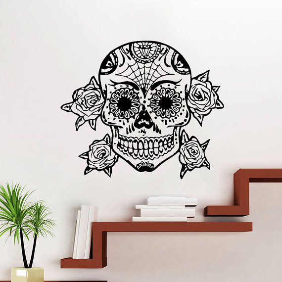 Online buy wholesale skull wallpaper from china skull for Creative mural art