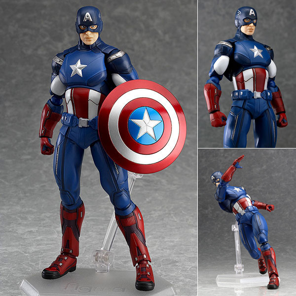 Figma The Avengers Captain America 16cm Boxed Marvel Super Hero PVC Action Figure Collection Model Toy Gift(China (Mainland))