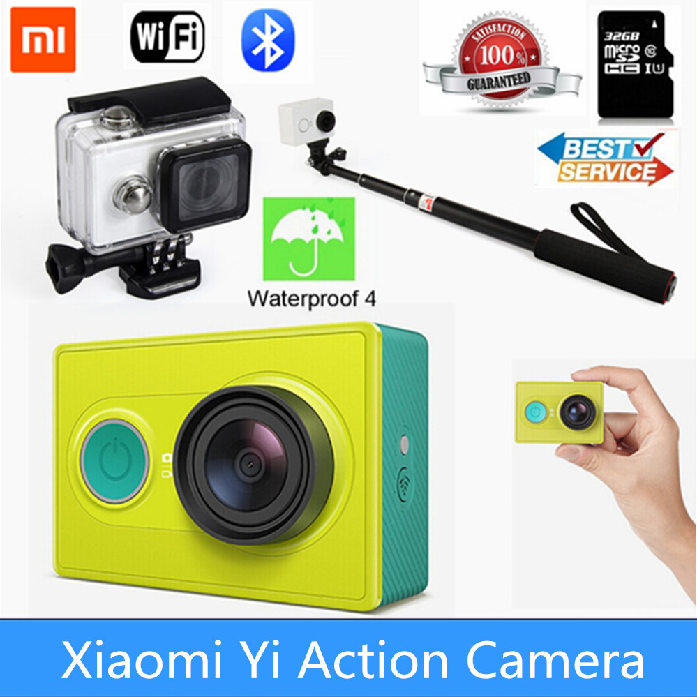 Xiaomi Yi Action Camera WiFi 16MP 1080P 60FPS Ambarella A7LS 155 Degree Wide Lens Bluetooth 40M Diving AV Out Sports DV(China (Mainland))