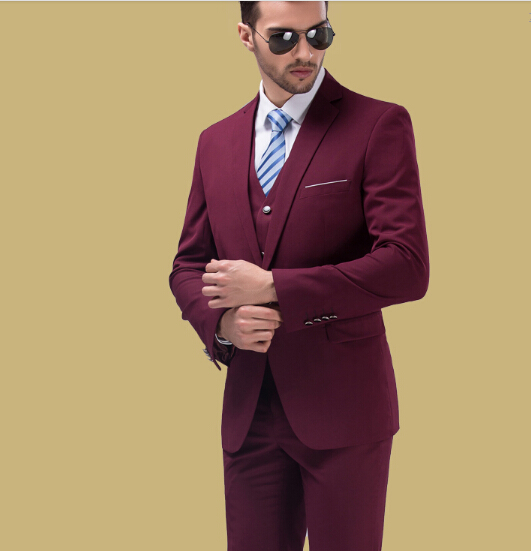 Здесь можно купить  men suit set jacket + vest + pant business groom suits formal party wedding photography one button slim popular red navy white men suit set jacket + vest + pant business groom suits formal party wedding photography one button slim popular red navy white Одежда и аксессуары