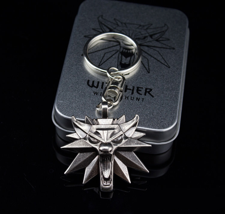 The Witcher 3 Wild Hunt Game Key Chain Small Zinc Alloy Key Chains Ring Fashion Jewelry Gift With Nice Package(China (Mainland))