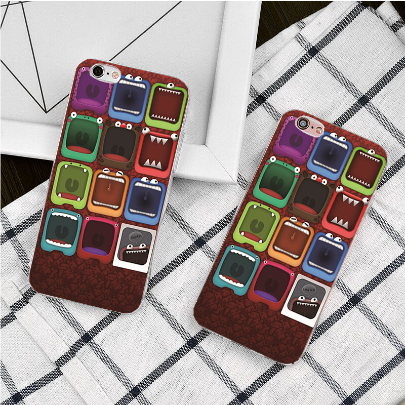 Newest The monster system Phone Cases Luxury Printed Hard Phone Skin for Apple iPhone 4 4s 5s 5c e 6 6S 7 case 6S Plus case(China (Mainland))
