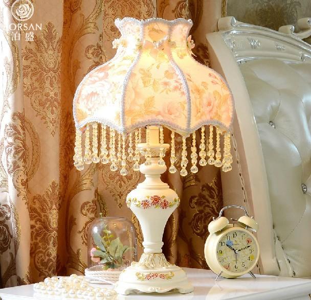 110v 220v resin Table lamp for bedroom,living room,e27 led lampW11*H22 wedding desk lamp American style abajur<br><br>Aliexpress