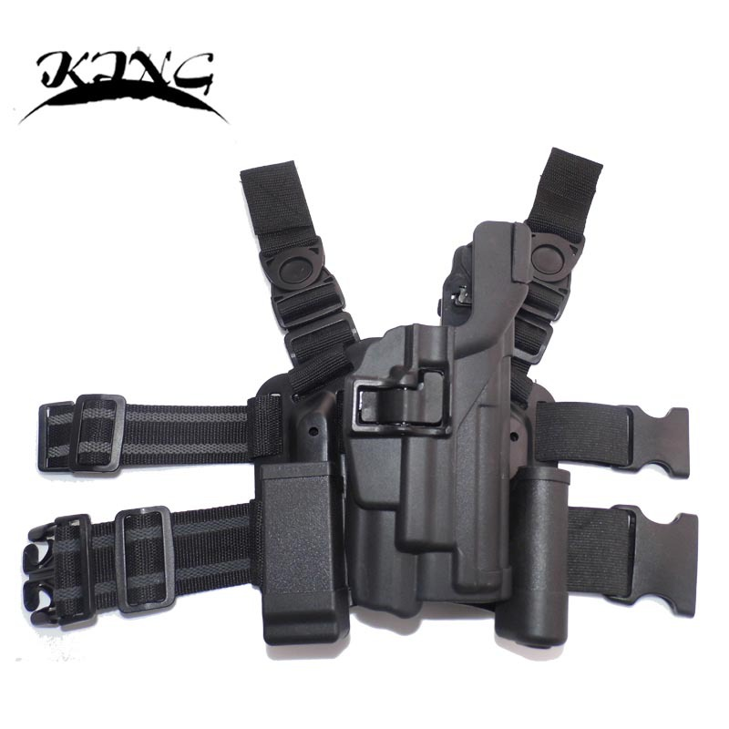 BLACKHAWK! Level 3 Light Bearing Tactical Holster for Xiphos NT Light leg holster fit for P226(China (Mainland))