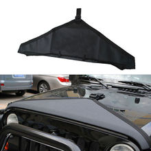 1 Pc Black Denim Hood Bra Front End Cover Triangle Fit For Jeep 97-06 TJ Wrangler LJ(China (Mainland))