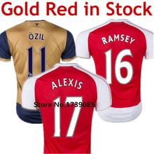 Aaron Ramsey Soccer Jersey Alexis Sanchez Rosicky Lukas Podolski Wilshere Mesut Ozil Olivier Giroud Walcot Arteta Shirt 2016   (China (Mainland))