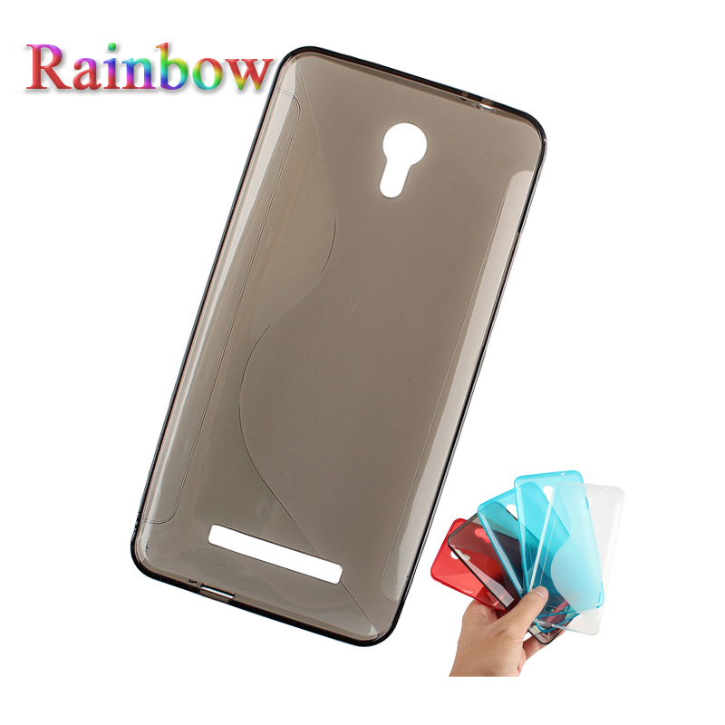Rainbow For JIAYU S3 Cell phone 4 colors S-line Clear Silicone Protective Cover TPU Case Free shipping Wholesale(China (Mainland))