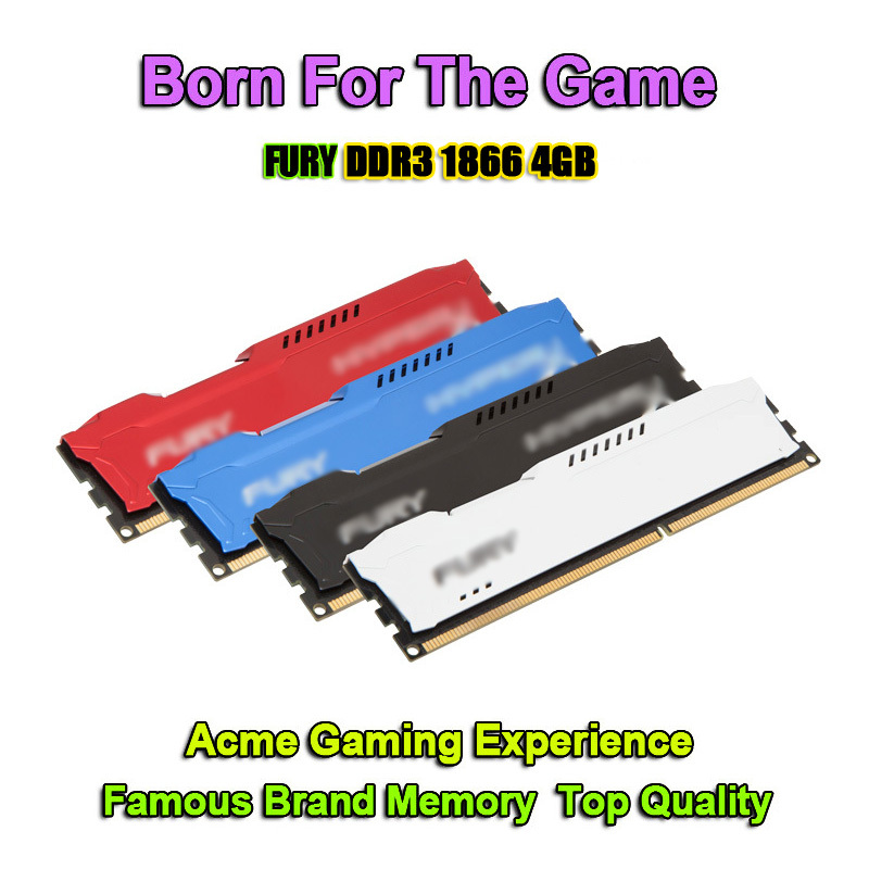 Hot Famous Brand RAMs Desktop Computer Memory Module Game DDR3 RAM 4GB DDR3 1866 MHz 4G PC Memoria RAM 4GB DDR 3 Compatible 1600(China (Mainland))