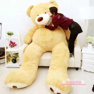 "1pcs 260cm/102"" HUGE BIG STUFFED ANIMAL giant TEDDY BEAR COVER PLUSH SOFT TOY PILLOW COVER(WITHOUT STUFF)(China (Mainland))"