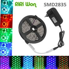 RiRi Won RGB led strip 3528 2835 flexible strip light 5M white/warm white/red/blue/green/yellow/RGB Diode Tape + controller(China (Mainland))