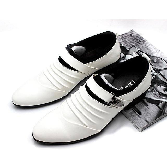 2014 новый бренд белые обувь Из Натуральной Кожи для человека высокого качества свадебная ...