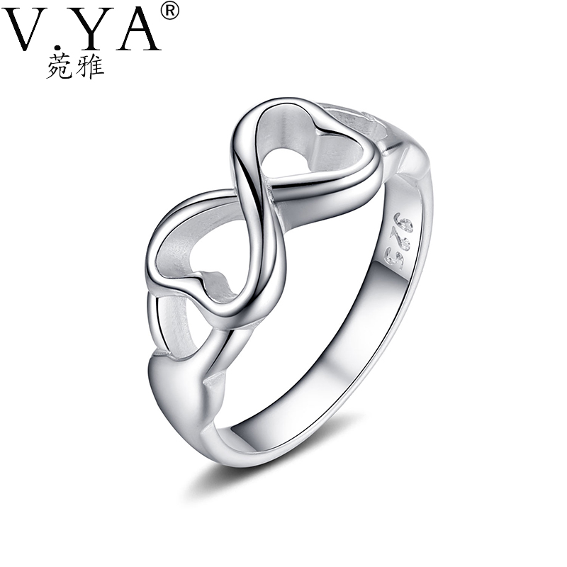 new Fashion heart Infinite Ring Women Gift Silver Plated men Jewelry Finger Rings R092 - VYA Official Store store