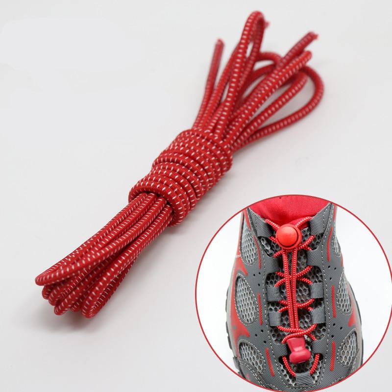 1 pair High elastic lazy shoelaces Locking Shoe Laces Elastic Shoelace Shoestrings Running/Jogging/Triathlon/Sports Fitness(China (Mainland))