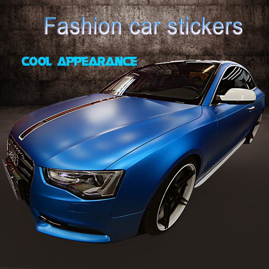 Blue car sticker design - 152cmx30cm Matte Change 13 Colors Wrap Sheet Roll Film Car Stickers And Decals Motorcycle Car Styling