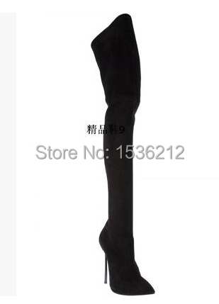 High fashion designer brands shoes woman over the knee shoes Top Quality Brand Motorcycle Boots Thin Heels Party women shoes<br><br>Aliexpress