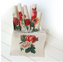 Buy Hand dyed 6Assorted Cotton Linen Printed Quilt Fabric DIY Sewing Patchwork Home Textile Decor 20x20cm rose painting for $10.66 in AliExpress store
