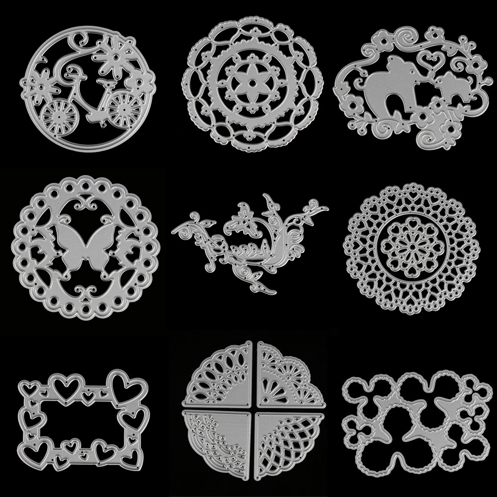 die cutting metal for scrapbooking Flower animal heart shape Cutting Dies Stencil DIY embossing folder Album Paper Card Decor