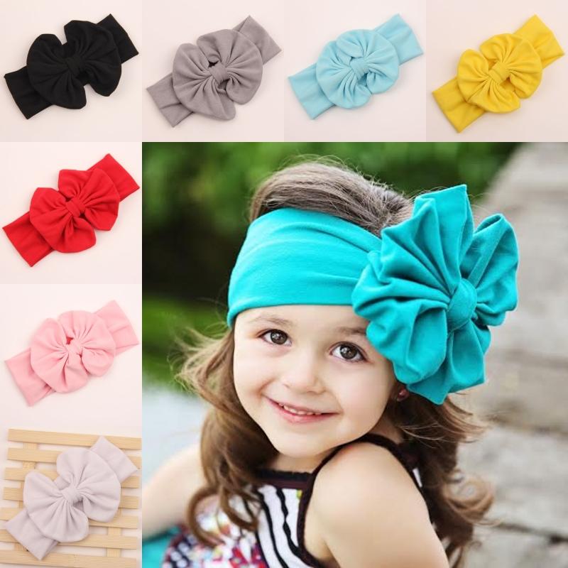 2015 newborn baby girl big Cotton turbante fabric elastic for hair bows head bands wraps turban headband headbands accessories(China (Mainland))