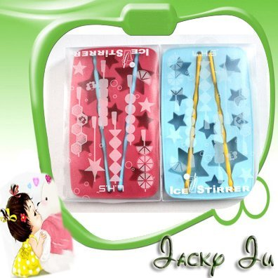 20pcs/Lot New Lucky Star Shape Creative Living Refrigerator Ice Box Mould Mold Ice Stirrer