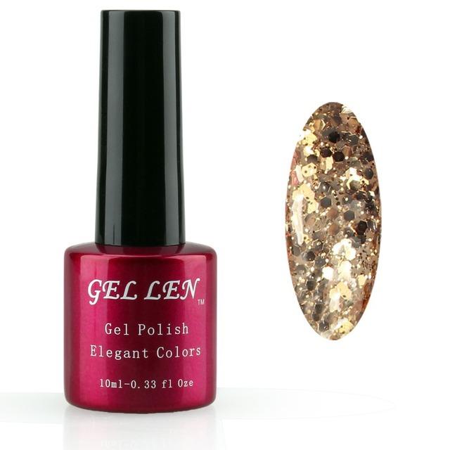 Гель лен 10 мл ногтей уф-гель цвет выдерживает с блестками польский уф из светодиодов ...