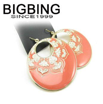 Bigbing ювелирные изделия мода старинные оранжевый круглый серьги пирсинг серьги мода серьги высокое качество никель бесплатно JA165