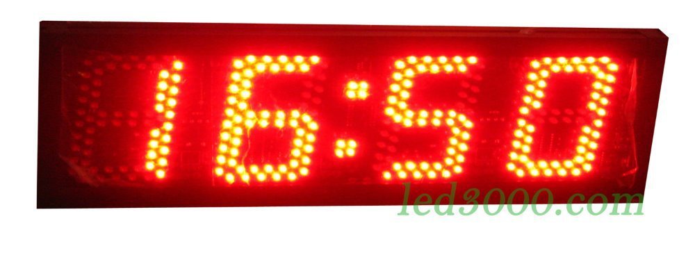 large size 5inch height character led clock red color 4digits hours and minutes display 12H/24H ,free shipping (HST4-5R)(China (Mainland))