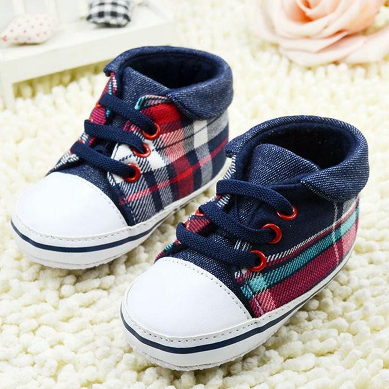 Cute Toddler Baby Boys Plaid Lace Up Soft Sole Shoes Infant Prewalker First Walkers Hot Freeshipping<br><br>Aliexpress