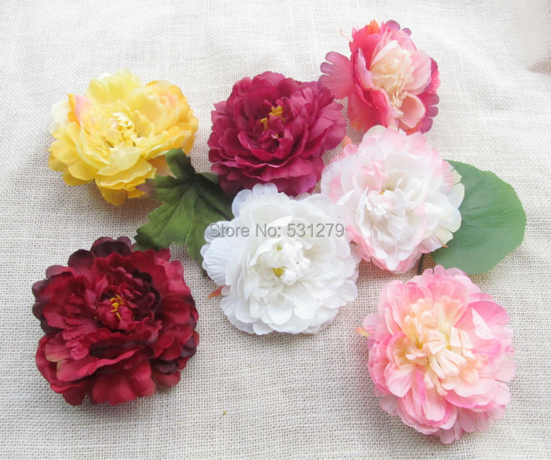 8 colors Artificial Silk peony flower 11cm for DIY Wedding table centerpieces shoes corsage shoes hat decorative 20pcs/lot(China (Mainland))