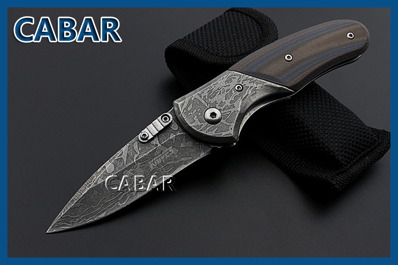 CABAR 2015 New Arrival 75 mm Single Blade Hunting Camping Diving Outdoor Knife Top Quality Fold