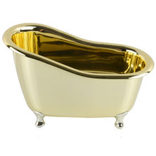 NEW gold-plated color Bathroom Storage bathtub Mini bathtub bathroom mini lovely storage box for toothpaste toothbrush(China (Mainland))