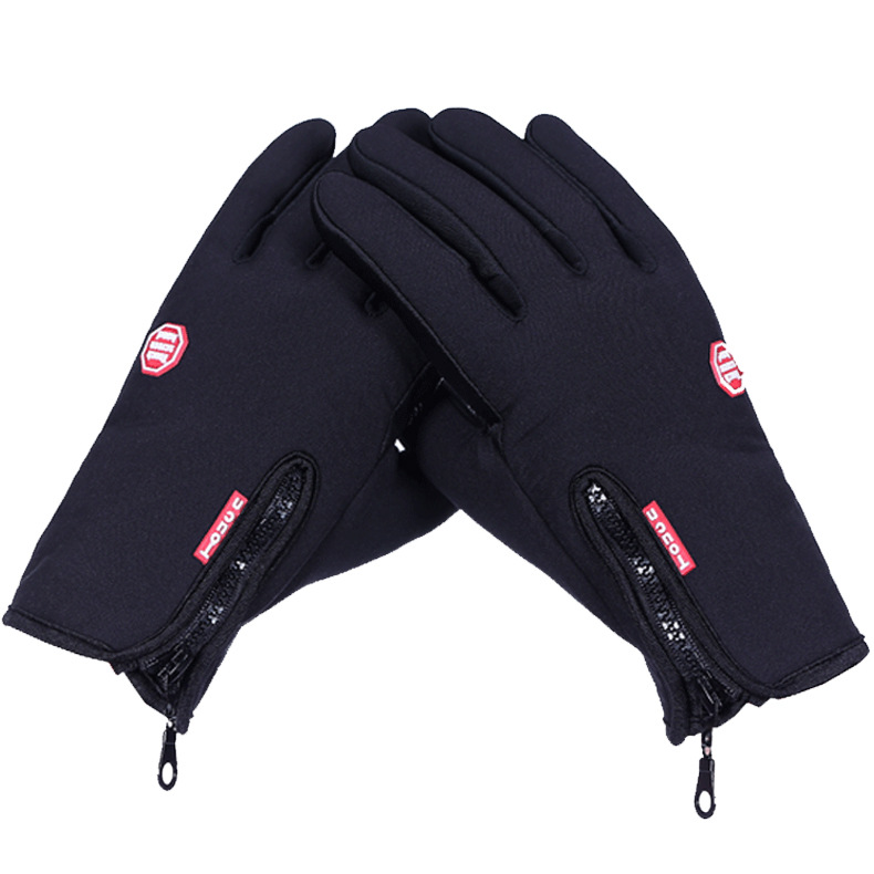 Hot Sale! Autumn Winter Outdoor Gloves Black Touch Windproof Fleece Warm Sports Guantes Retail - iFashion Forward store