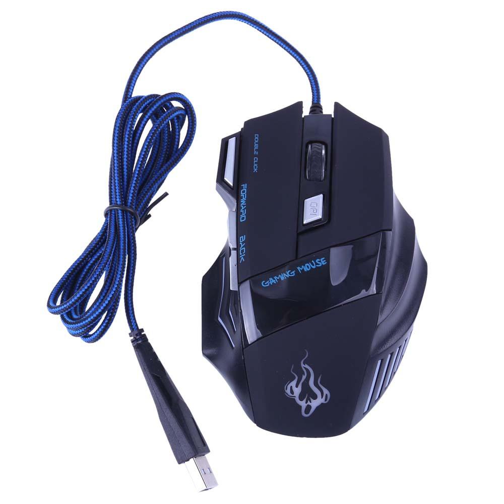 5500 точек/дюйм 7 ключевых мышь-оптическая usb-проводной геймер игровая мышь мышей с дыханием огни трехместный своих ключ для портативных пк