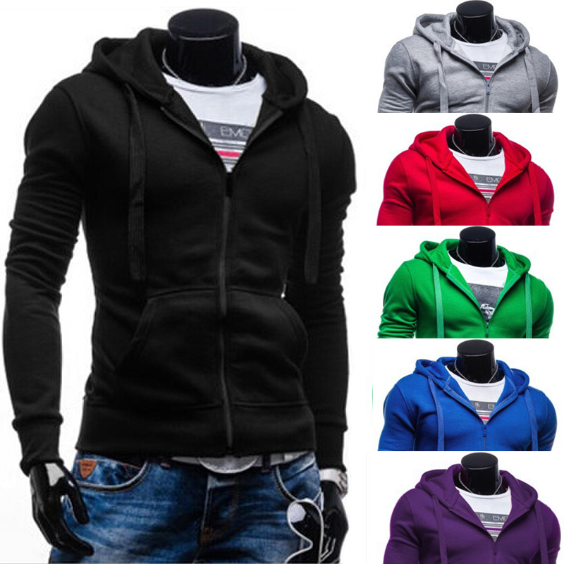 2015 fashion style hot selling spring Long sleeve hoodies Slim fit zipper solid mens Casual PW66 - Be Top Trading Co,.Ltd store