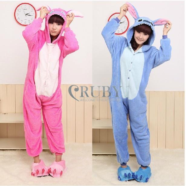 Unisex STITCH Adult Fashion Anime Costumes Womens Mans Pajamas Onesies adults hooded animal costumes Pyjamas onesie  -  RUBY TOP 2 store