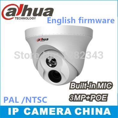 Dahua IPC-HDW4300C Built-in MIC IR HD 1080p IP Camera 3MP IR security cctv Dome Camera Support POE HDW4300C(China (Mainland))