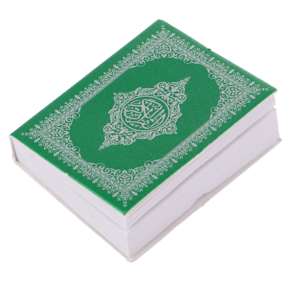 1/6 Exquisite Mini Chinese Language Holy Bible Book Dollhouse Miniatures Decoration for 12inch Dolls -Green Cover for Dollhouse