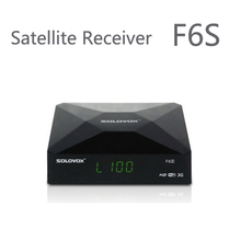 1PC Free Shipping Original SOLOVOX F6S Satellite Receiver/ TV Box Support 2 USB WEB TV Card Sharing NEWCAM Youporn(China (Mainland))