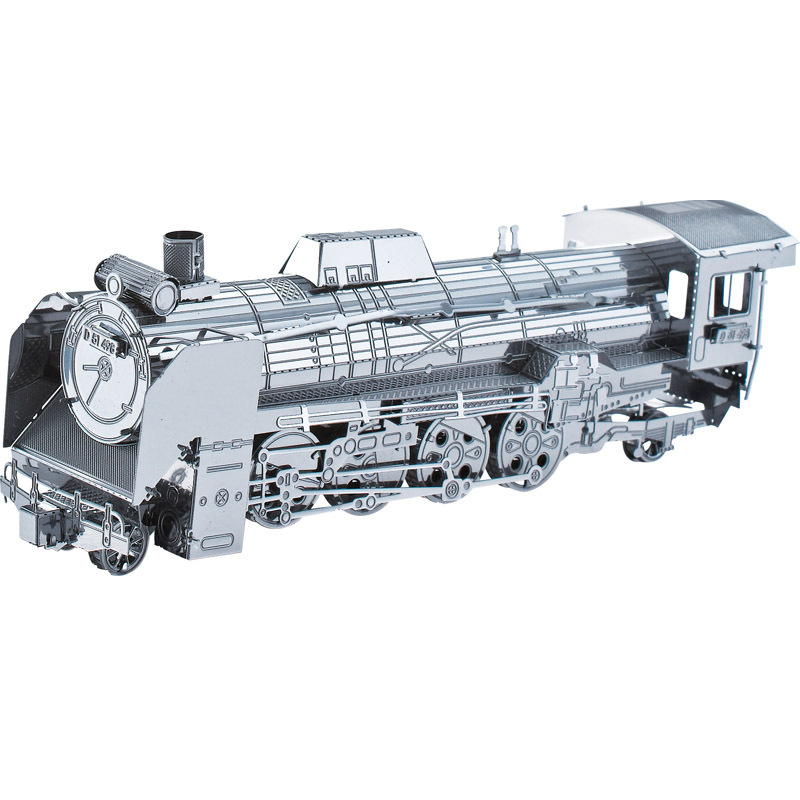 2014 Newest 3D Puzzles taye metal works Model Steam Train Jigsaw educational toys for children(China (Mainland))