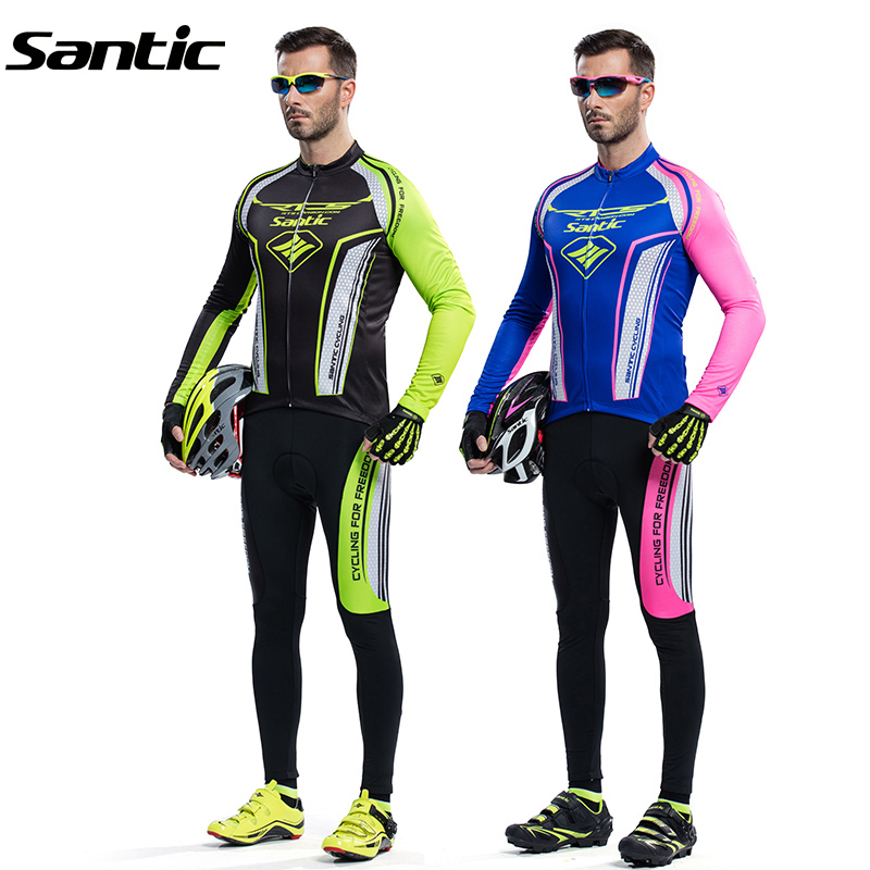 Santic Men RTS Racing Team Cycling Jersey Complete Cycling Clothing 4D Pad MTB Road Downhill Bike Jersey UV400 Proof Breathable(China (Mainland))