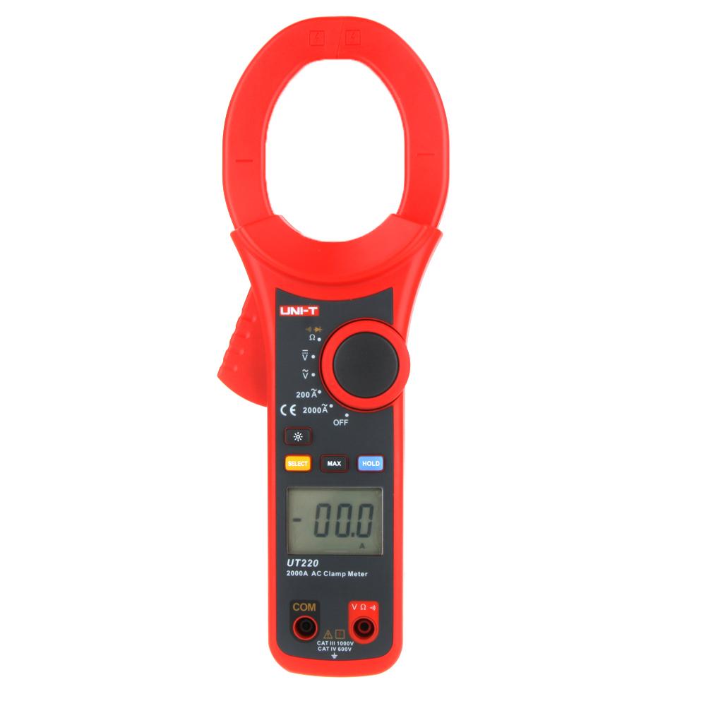 Фотография Professional UNI-T 2000A Auto Range Data Hold LCD Backlight Digital Clamp Meters Multitester UT220 Megohmmeter
