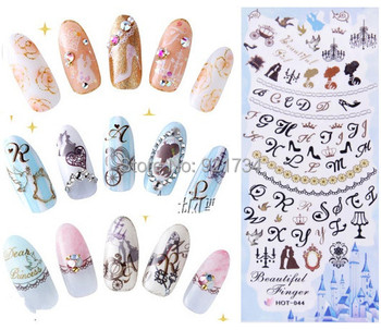 See detail and remark 100 pcs mix export japan and korea water transfer nail art sticker decal seal
