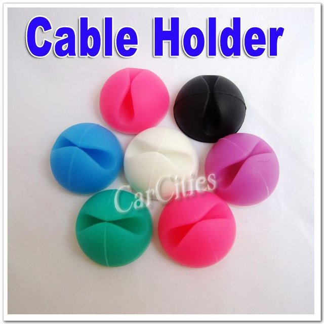 Wholesale Multipurpose Strong Adhesive plastic cable holder,Wire Cable line winder roller holder, free shipping