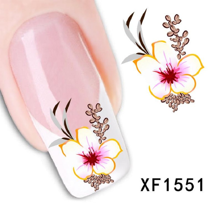 New Fashion Pro Water Transfer Flower Decal Women Stickers Nail Art Acrylic Manicure Tips Decoration Sell Hotting !(China (Mainland))