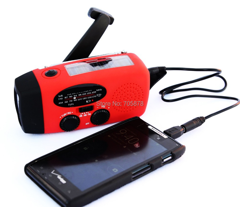 solar radio AM/FM hand crank solar radio with flashlight 3 LED bright white light emergency phone charger(China (Mainland))